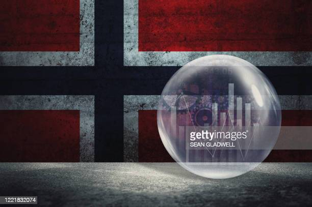 norway financial bubble - norwegian flag stock pictures, royalty-free photos & images