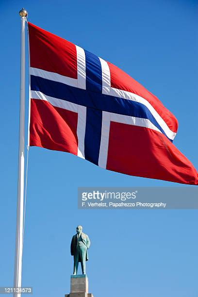 norway flag - norwegian flag stock pictures, royalty-free photos & images