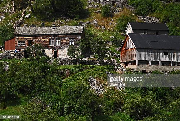 Nature landscapes and also humans are worth a journey The Geirangerfjord a worthwhile goal Unesco Weltnaturerbe with many Wasserfaellen