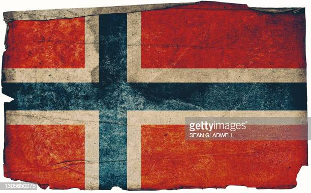 norway grunge flag poster - norwegian flag stock pictures, royalty-free photos & images