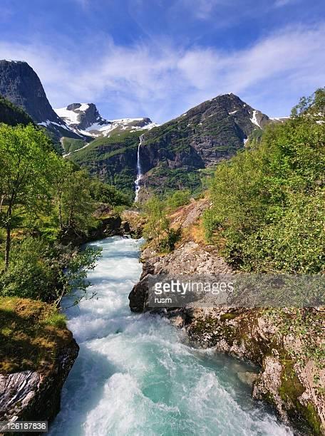 Norway landscape, Briksdalsbreen glacier