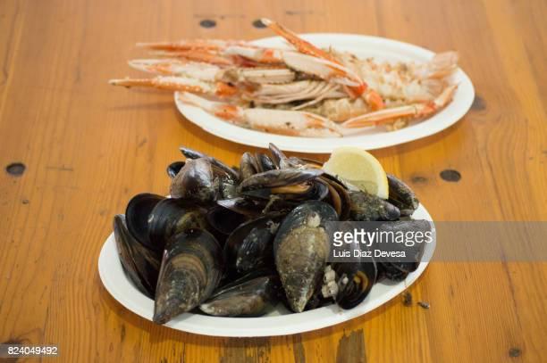 Norway lobster in plate