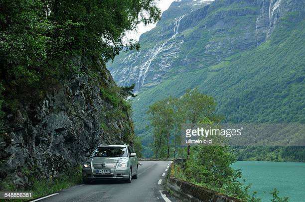 Norway Loendal - car on a very small road