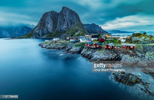 norway lofoten islands landscape during autumn - ノルウェー ストックフォトと画像
