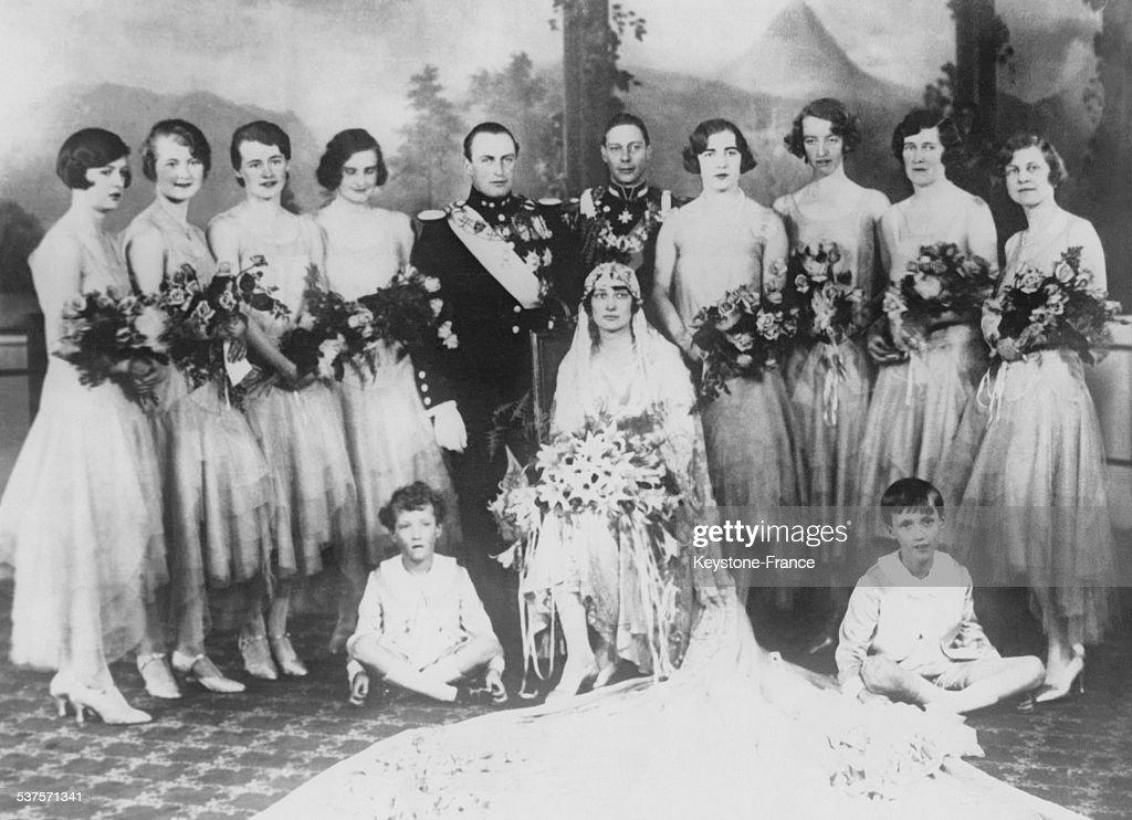 The Wedding Of Prince Olav : News Photo