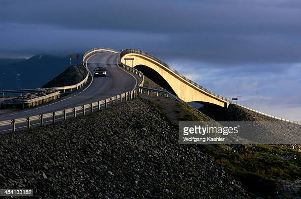 Norway Near Molde Atlantic Ocean Road Bridge
