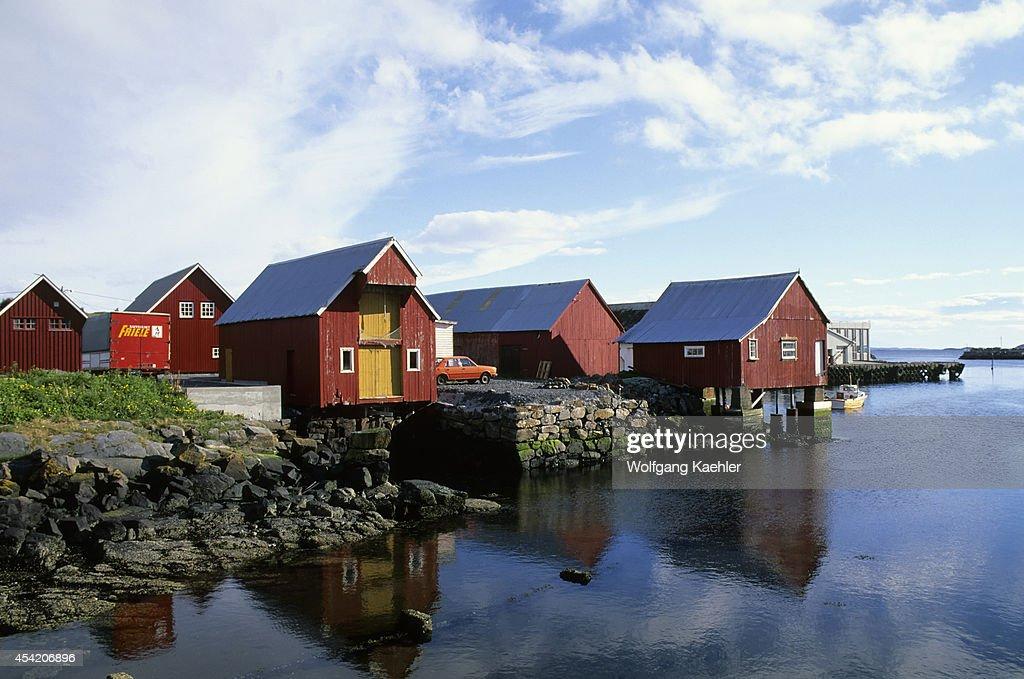 Norway, Near Molde, Fishing Village Bud.