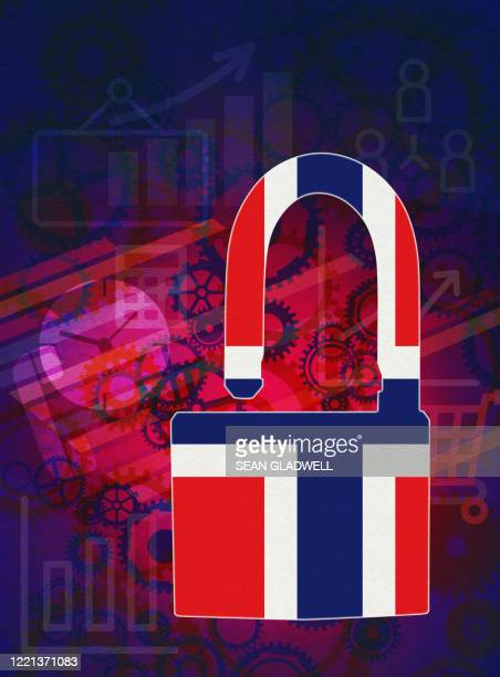 norway open for business - norwegian flag stock pictures, royalty-free photos & images