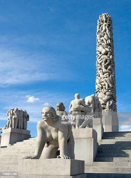 Norway, Oslo, Vigeland sculptures in Frogner Park