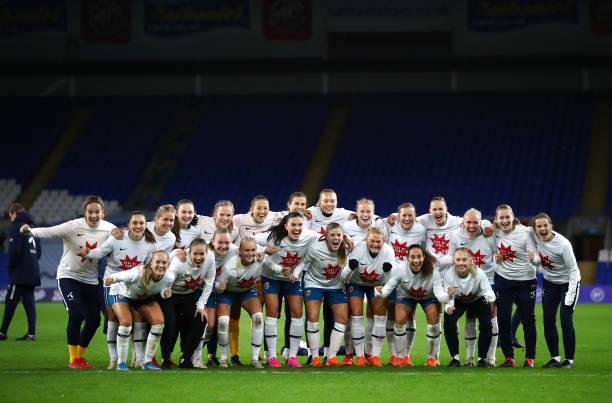 GBR: Wales Women v Norway Women - UEFA Women's EURO 2022 Qualifier