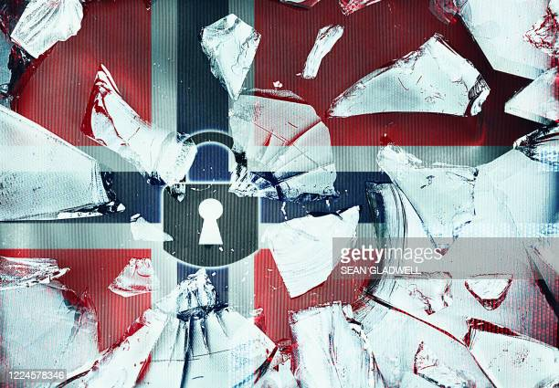 norway security concept - norwegian flag stock pictures, royalty-free photos & images