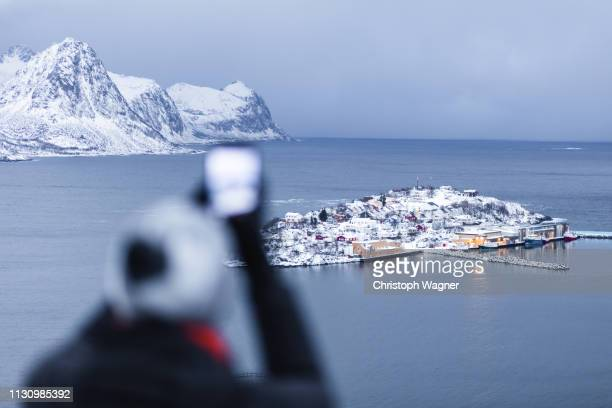 norway - senja - tourismus stock pictures, royalty-free photos & images