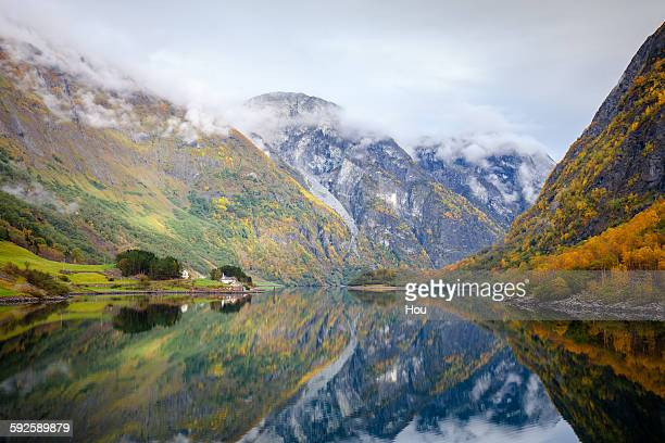 Norway, Sognefjord, Scenic fjord landscape