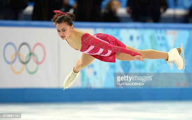 Norway's Anne Line Gjersem performs in the Women's Figure Skating Free Program at the Iceberg Skating Palace during the Sochi Winter Olympics on...