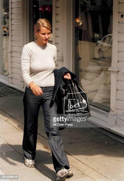 Norway's Crown Prince Haakon's Girlfriend Mette-Marit Tjessem Hoeiby, Walks To Work July 3, 2000 In Her Hometown Of Kristiansand, Norway Were She Is...