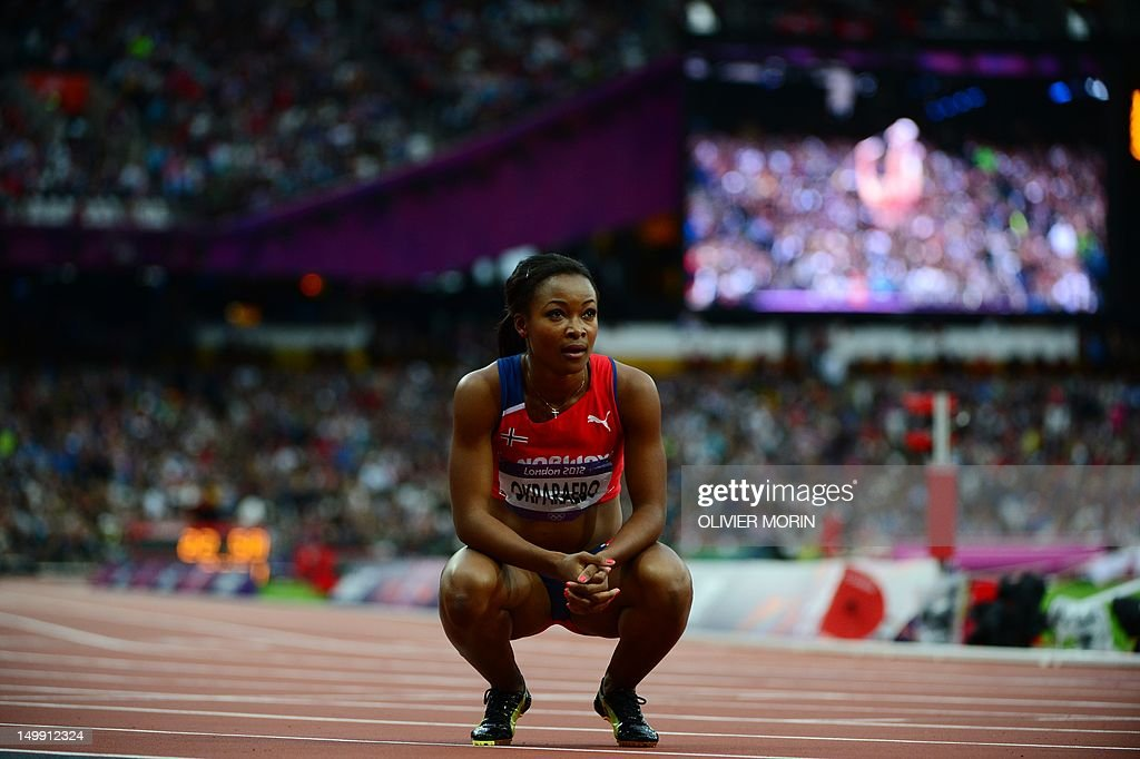Norway's Ezinne Okparaebo reacts after c : News Photo