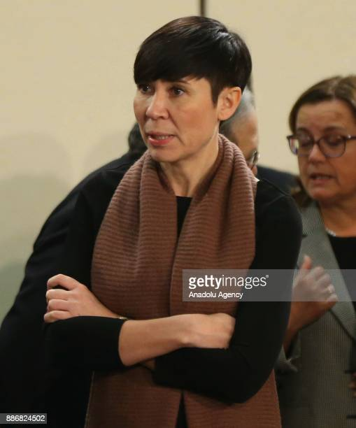 Norway's Foreign Minister Ine Marie Eriksen Soreide attends the second day of the NATO Foreign Ministers' meeting at NATO Headquarters in Brussels...