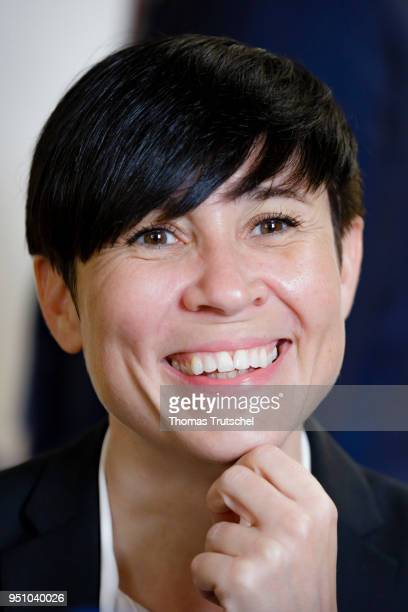 Norway's Foreign Minister Ine Marie Eriksen Soreide captured on April 25 2018 in Brussels Belgium