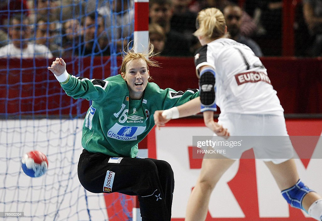 Norway S Goalkeeper Katrine Lunde Haraldsen Tries To Stop A Shot From News Photo Getty Images