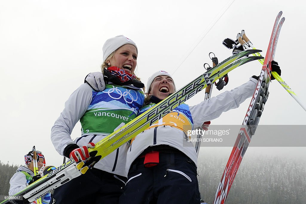Norway's gold medalists Therese Johaug a : News Photo