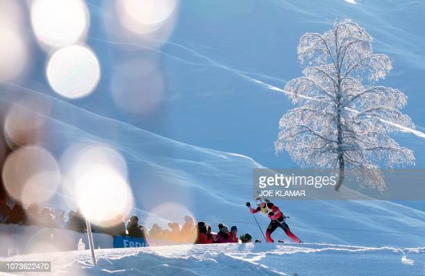 TOPSHOT Norway's Johannes Thingnes Boe competes during the men's 125 km pursuit event of the IBU Biathlon World Cup in Hochfilzen Austria on December...