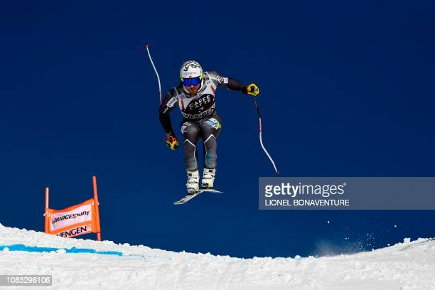 Norway's Kjetil Jansrud takes part in a training session for the men's downhill race of the FIS Alpine Skiing World Cup at the Lauberhorn in Wengen...