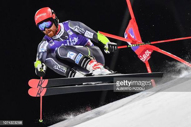 Norway's Leif Kristian Nestvold-Haugen competes in the 1/16th final of the FIS Alpine World Cup Men's Parallel Giant Slalom nightrace on December 17,...