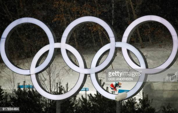 TOPSHOT Norway's Maiken Caspersen Falla competes during the women's crosscountry individual sprint classic quarterfinal at the Alpensia cross country...