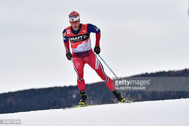 Norway's Martin Johnsrud Sundby competes in the Men's 10 km individual free competition of the Tour de Ski Cross Country World Cup on January 8 2016...