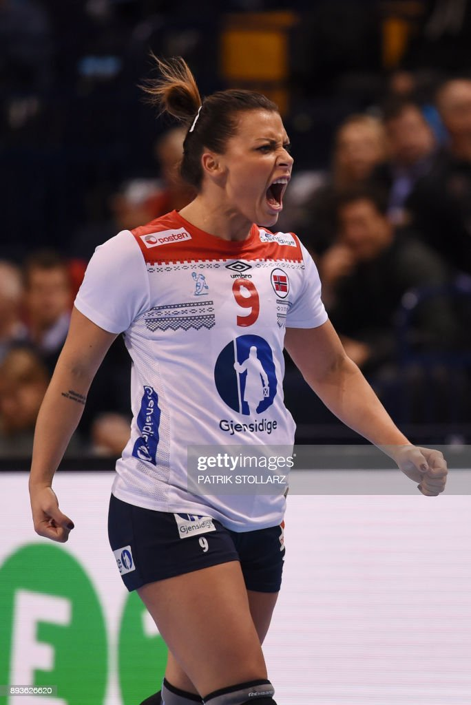Norway´s Nora Mork reacts during the IHF Womens World