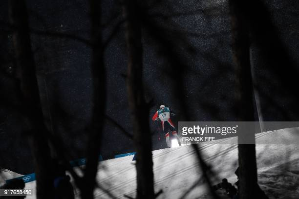 TOPSHOT Norway's Paal Golberg competes during the men's crosscountry individual sprint classic qualifications at the Alpensia cross country ski...