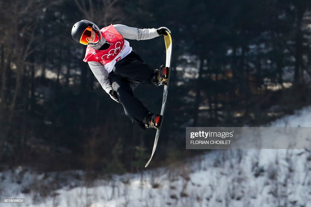 Norway's Staale Sandbech competes during the qualification of the men's snowboard big air event at the Alpensia Ski Jumping Centre during the Pyeongchang 2018 Winter Olympic Games on February 21, 2...