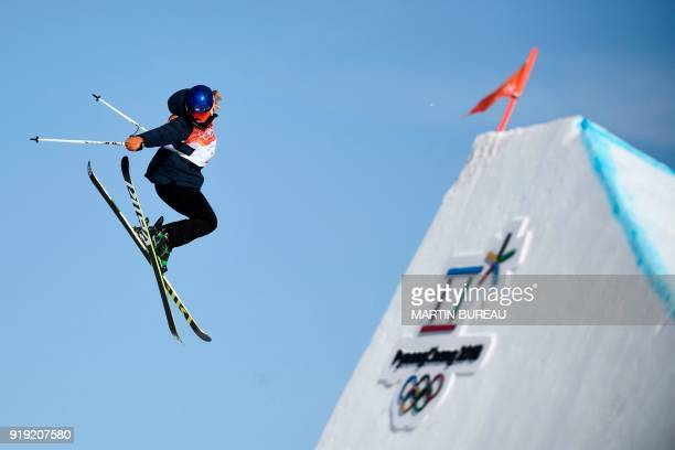 Norway's Tiril Sjaastad Christiansen competes in the women's ski slopestyle final run 2 during the Pyeongchang 2018 Winter Olympic Games at the...