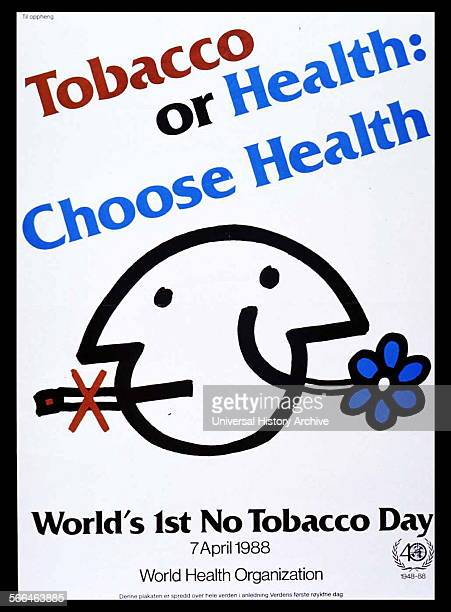 Norweagian Ministry of Health Public health poster to raise awareness against smoking cigarettes