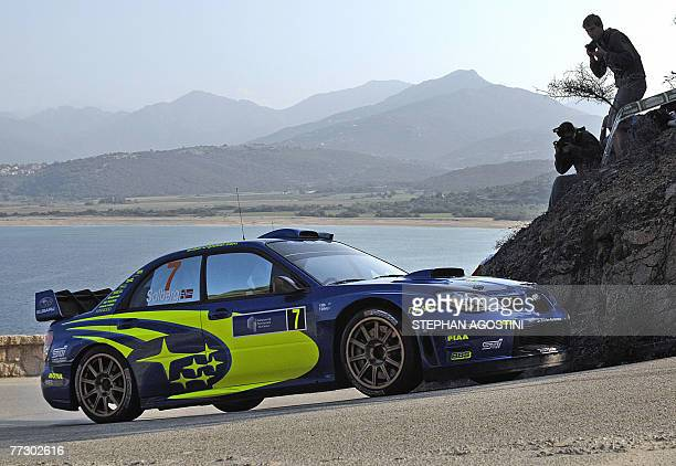 Norweggian rally driver of the Subaru WRT Petter Solberg and his navigator Phil Mills of Great Britain steer their Subaru Impreza WRC during the 51st...