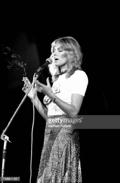 Norwegian actress Julie Ege compering at the Wembley Festival of Music at the Empire Pool Wembley London 29th October 1972 On the bill aare the Pink...