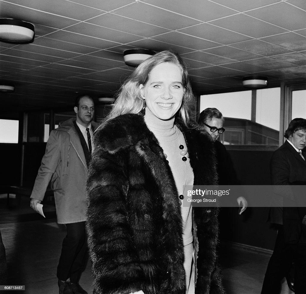 Norwegian actress Liv Ullmann at London Airport, UK, 14th March 1971.