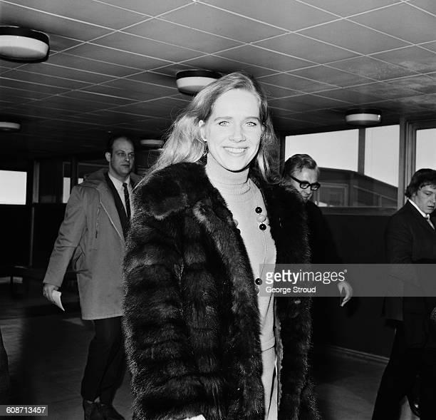 Norwegian actress Liv Ullmann at London Airport UK 14th March 1971