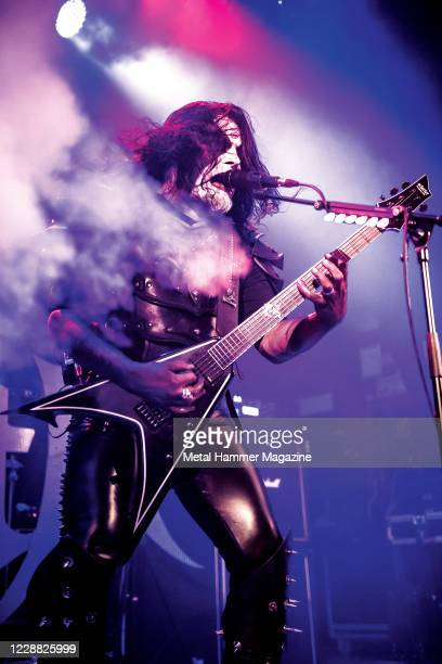 Norwegian black metal musician Olve Eikemo, better known by his stage name Abbath, performing live on stage at Islington Assembly Hall in London,...