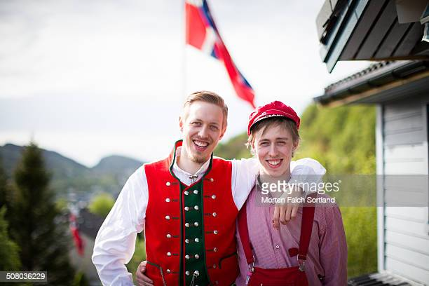 norwegian brothers - bergen norway stock pictures, royalty-free photos & images