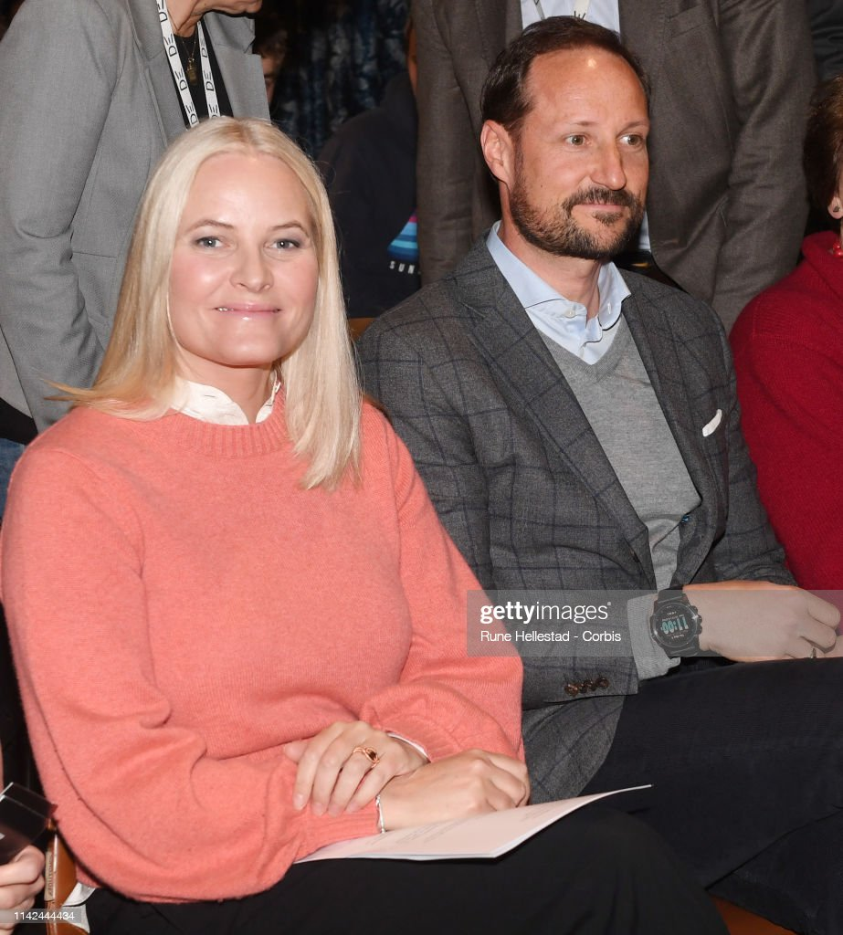 Norwegian Royals Visit The Literature Train : News Photo