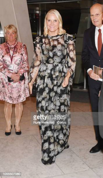 Norwegian Crown Princess Mette Marit attends the Nordic Council Literature Prize at the Opera House on October 30 2018 in Oslo Norway