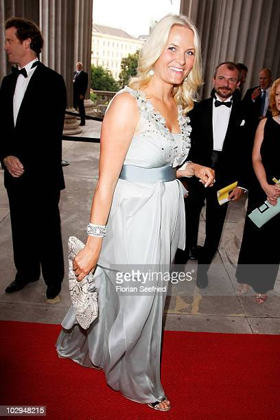 Norwegian Crown Princess MetteMarit attends the amfAR Gala Vienna 2010 as part of the Life Ball 2010 at Parliament Of Austria on July 17 2010 in...