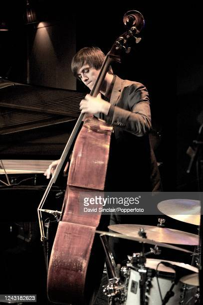 Norwegian double bass player Audun Ellingsen performs live on stage at Ronnie Scott's Jazz Club in Soho London on 8th March 2010