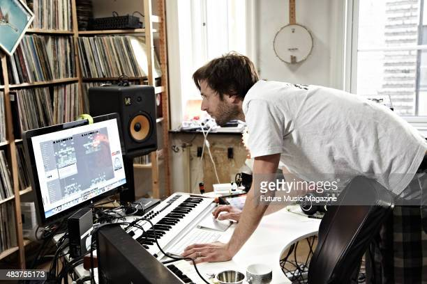 Norwegian electronic music producer and DJ HansPeter Lindstrom photographed during a portrait shoot for Future Music Magazine June 20 2012 HansPeter...