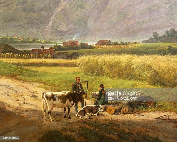 Norwegian farmers by Johan Christian Clausen Dahl Norway 19th century