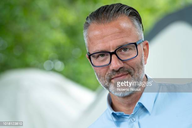 Norwegian fiction writer Thomas Enger attends a photocall during the annual Edinburgh International Book Festival at Charlotte Square Gardens on...