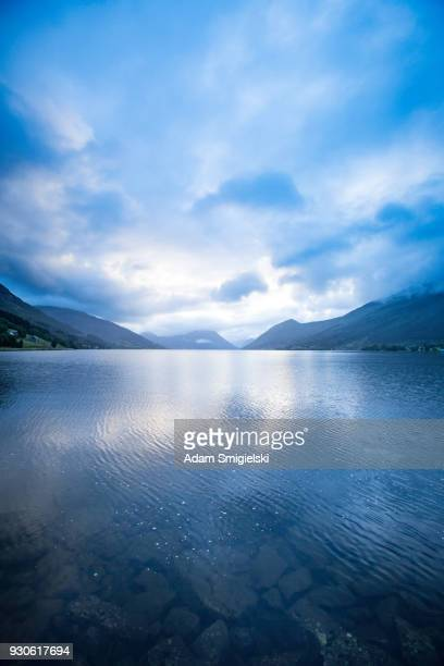 norwegian fjord - blue sky stock pictures, royalty-free photos & images