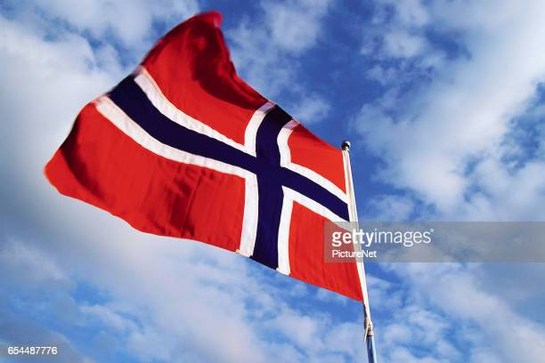 norwegian flag - norwegian flag stock pictures, royalty-free photos & images