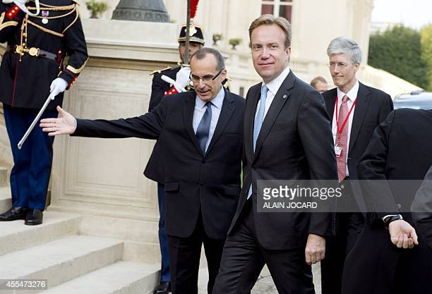 Norwegian Foreign Minister Borge Brende arrives for an international conference on Islamic State at the French Foreign ministry in Paris on September...